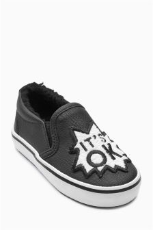 Slip-On Badge Pumps (Younger Boys)
