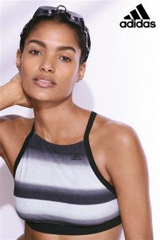 adidas Black/White Bikini Top