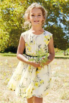 Floral Print Prom Dress (3-14yrs)