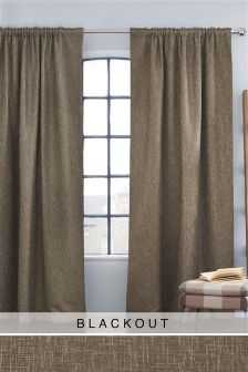 Bouclé Multi Header Blackout Curtains