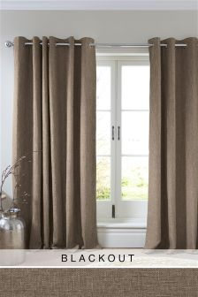 Bouclé Eyelet Blackout Curtains