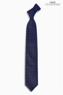 Signature Italian Fabric Patterned Tie