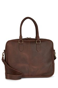 Brown Signature Leather Bag