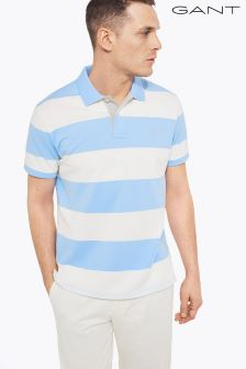 Gant Navy/White Barstripe Poloshirt
