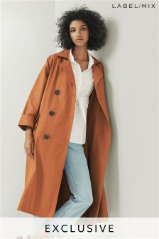 Mix/Isa Arfen Showerproof Oversized Trench Coat