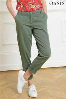 Oasis Khaki Chino Trouser