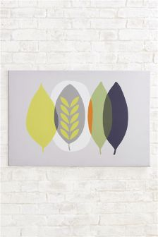 Abstract Leaves Print On Canvas