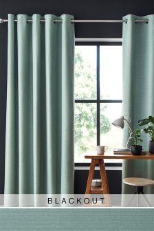 Textured Slub Studio* Eyelet Blackout Curtains