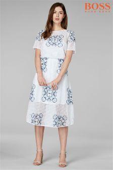 BOSS White Cut Out Dress