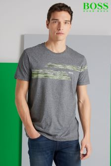 Boss Green Grey Teep Graphic T-Shirt