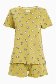 Elephant Cotton Jersey Short Set