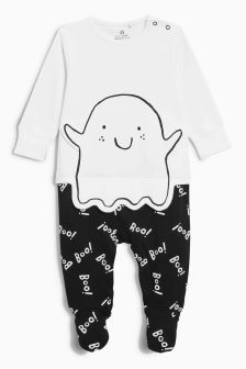 Halloween Boo Ghost Sleepsuit (0-18mths)