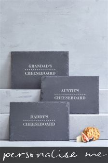 Real Slate Personalised Cheese Board Gift By Loveabode