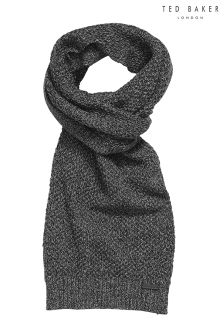 Ted Baker Grey Kapok Twisted Cable Knitted Scarf