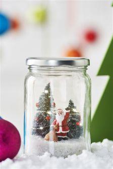 Light Up Santa Jar
