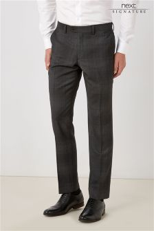 Signature Check Slim Fit Suit: Trousers