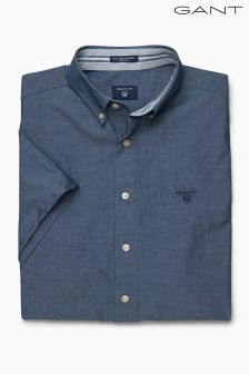 Gant Indigo Short Sleeved Chambray Shirt