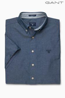 Gant Indigo Short Sleeved Chambray Shirt