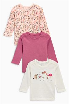Character Long Sleeve T-Shirts Three Pack (3mths-6yrs)