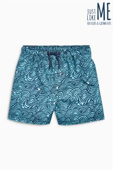 Swirl Print Swim Shorts (3mths-16yrs)