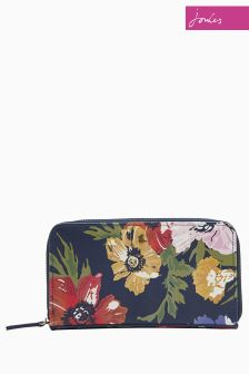 Joules Navy Fairford Printed Canvas Purse