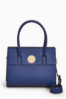Clasp Detail Tote Bag