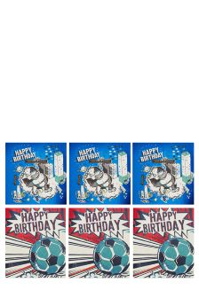 Set Of 6 Assorted Boy's Birthday Cards