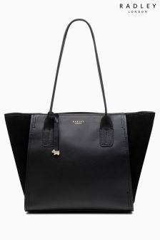 Radley Black Suede Tiverton Park Tote Bag
