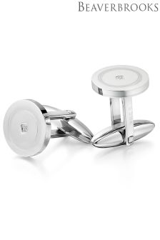 Beaverbrooks Mens Steel Cufflinks