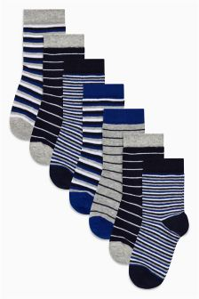 Stripe Socks Seven Pack (Younger Boys)