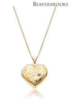 Beaverbrooks 9ct Gold Heart Locket Pendant