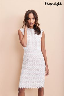 Phase Eight Cameo/Ivory Ally Lace Layered Dress