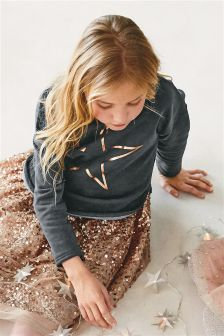 Foil Star Sweater (3-16yrs)