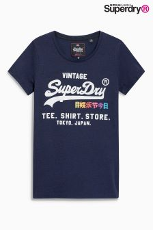 Superdry Navy Rainbow Tee