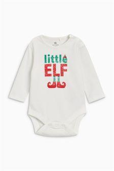 Little Elf Long Sleeve Bodysuit (0mths-2yrs)