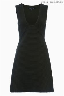 French Connection Sleeveless Stretch Ribbed Jersey Dress
