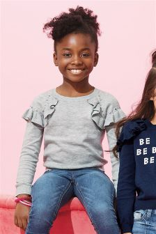 Bloom Ruffle Stud Sweater (3-16yrs)
