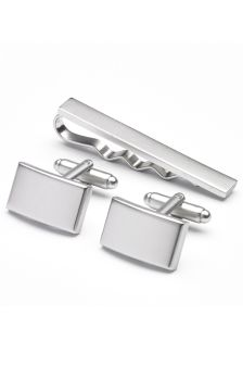 Tie Clip And Cufflinks Set