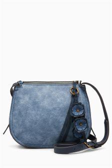 Small Flower Charm Saddle Bag