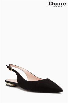 Dune Black Brey Embellished Heel Slingback