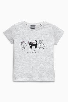 Snapcat T-Shirt (3mths-6yrs)