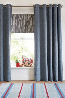 Bouclé Blend Eyelet Blackout Curtains