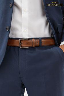 Tan Signature Italian Leather Belt