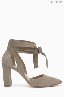 Mint Velvet Emily Wrap Ankle Tie Block Heel