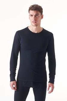 Black Thermal Long Sleeve Top