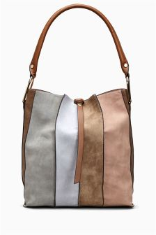 Stripe Hobo Bag