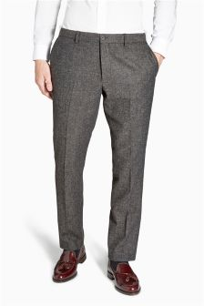 Textured Slim Trousers