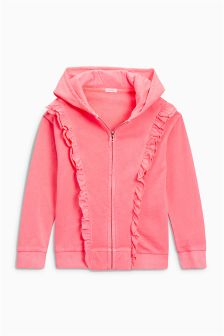 Frill Zip Through Hoody (3-16yrs)