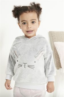Bunny Fleece Hoody (3mths-6yrs)