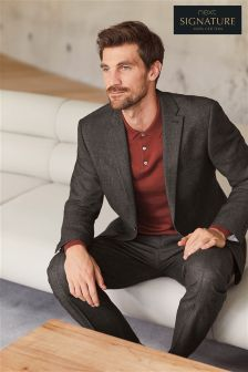 Signature Textured Tailored Fit Suit